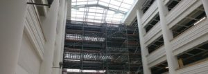 system scaffolding with loading bays from K2 Scaffolds